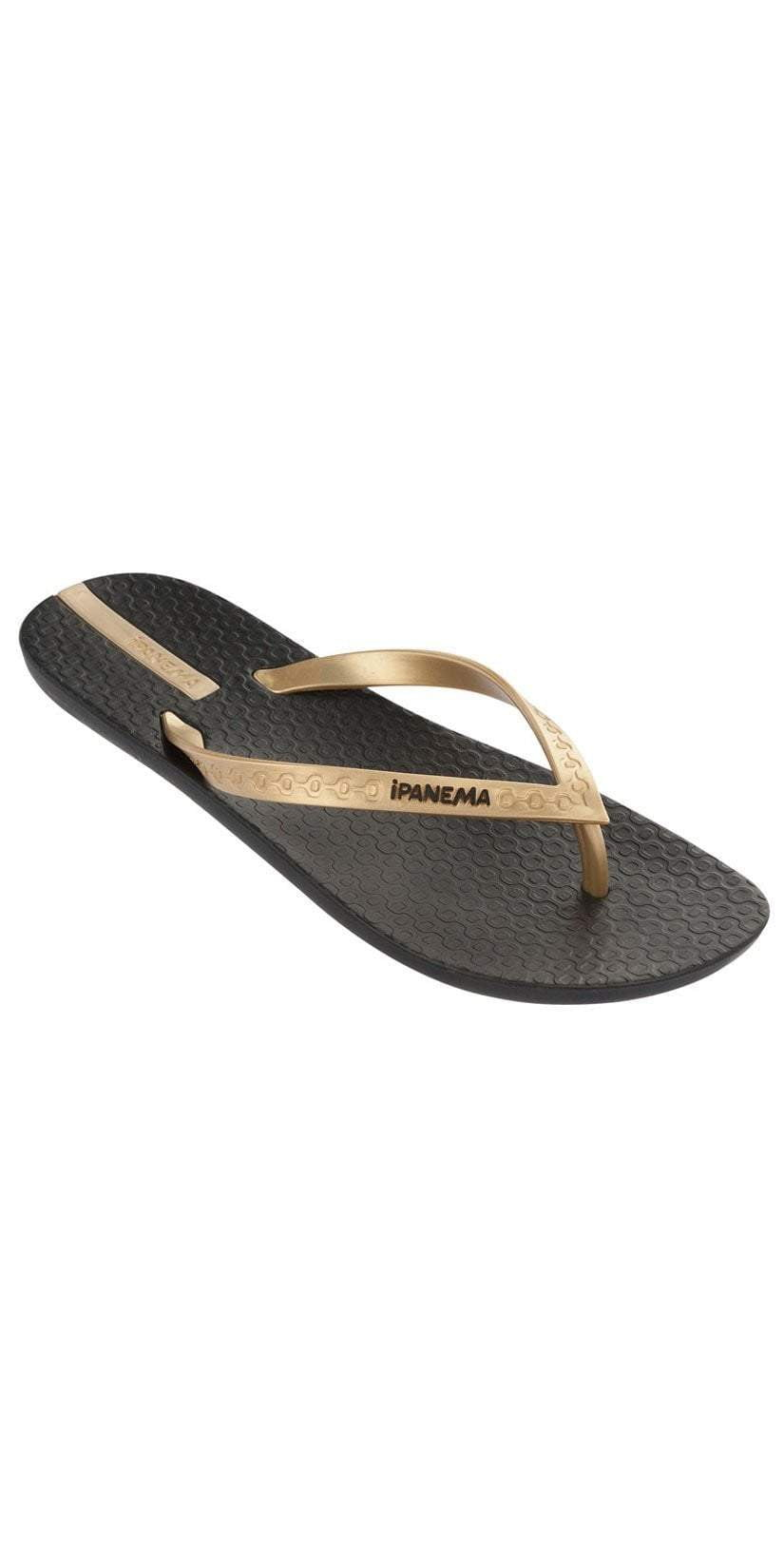 3f7733348f08 iPanema Neo Sense Flip Flops in Black Gold 21976-BLK GLD – South ...