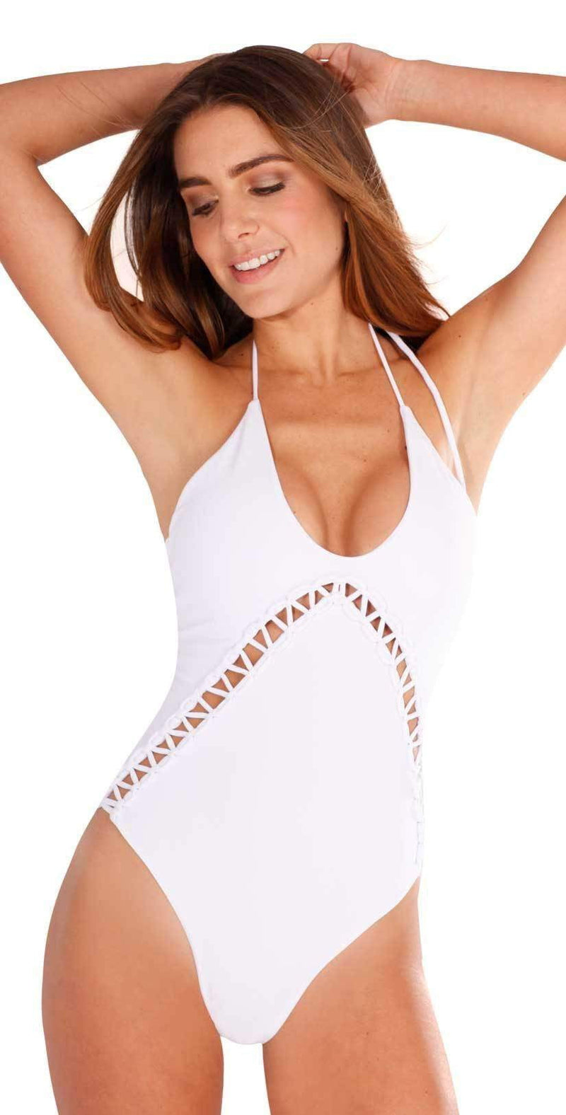 Peixoto Paloma One Piece Swimsuit in White 31805L-S18: