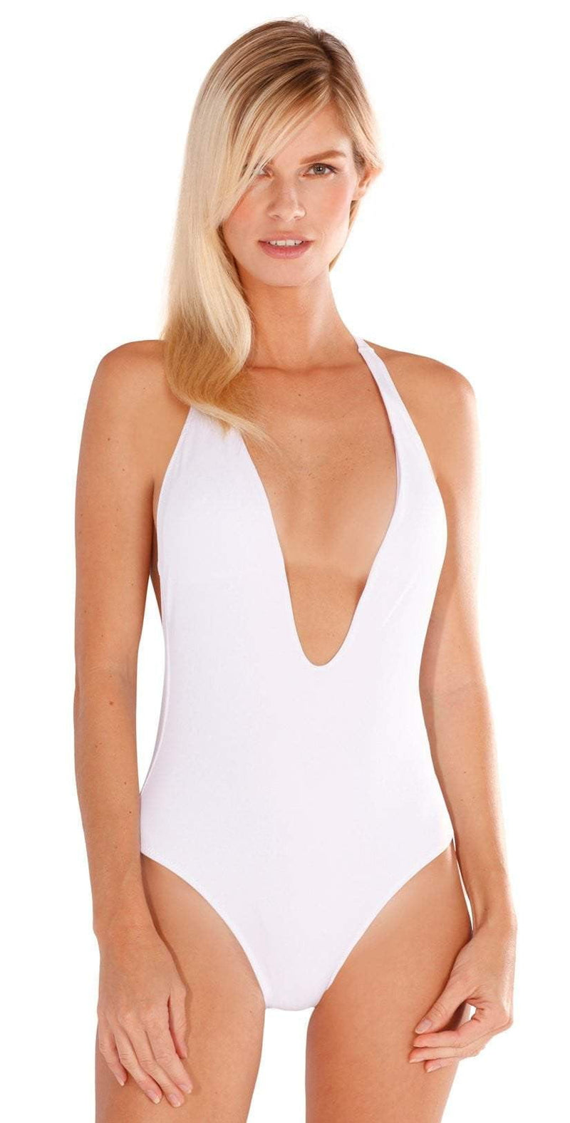 Peixoto Flamingo Latin One Piece In White 1302L-S18-WHT: