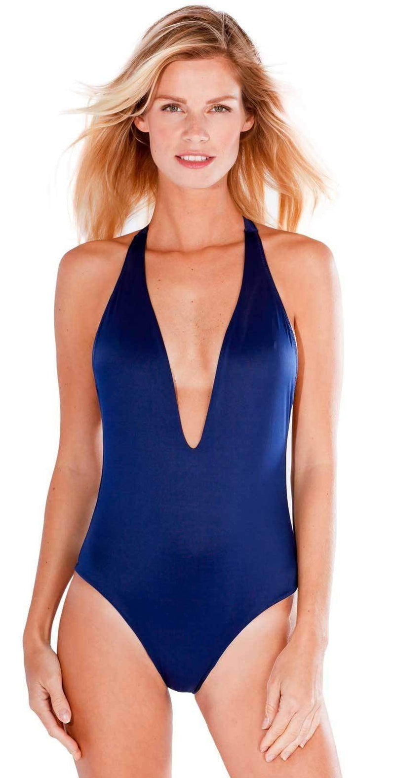 Peixoto Flamingo Latin One Piece in Navy Blue 1302L-S41:
