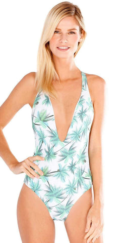 Peixoto Flamingo Latin One Piece in Palm Island  1302L-P37