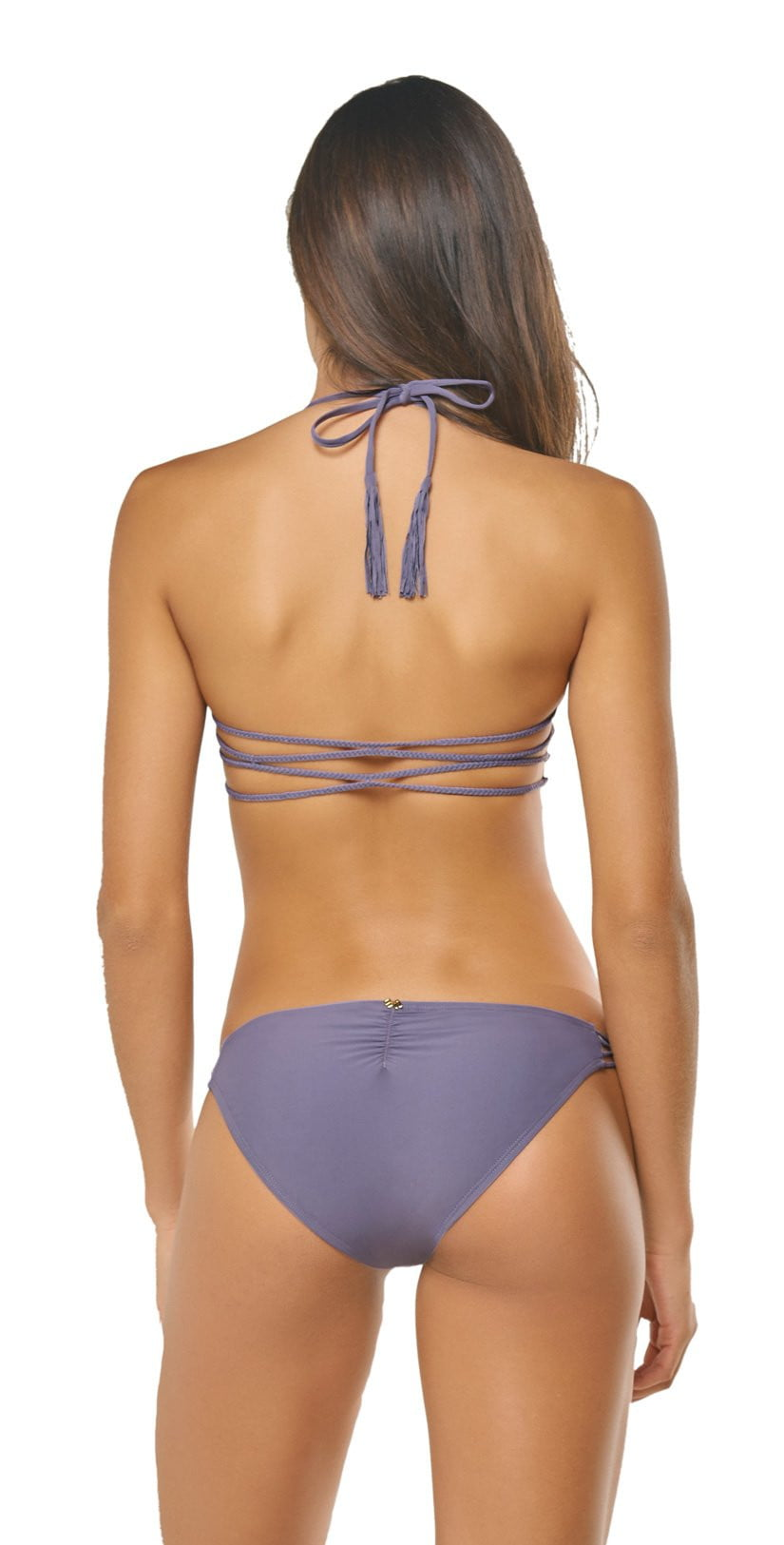 PilyQ Amethyst Braided Zen Top AME-177H Back