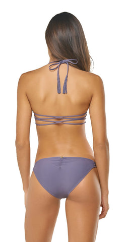Luli Fama Orillas del Mar Seamless Triangle Top In Purple L50021P 481
