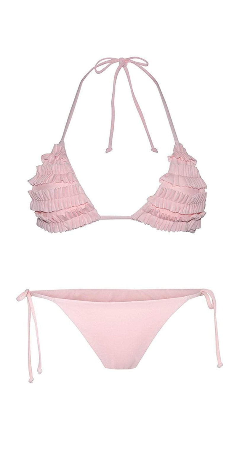 Chloe Rose Bloom Bikini Set In Pink: