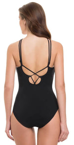 Profile by Gottex Casablanca High Neck One Piece E842-2046-001: