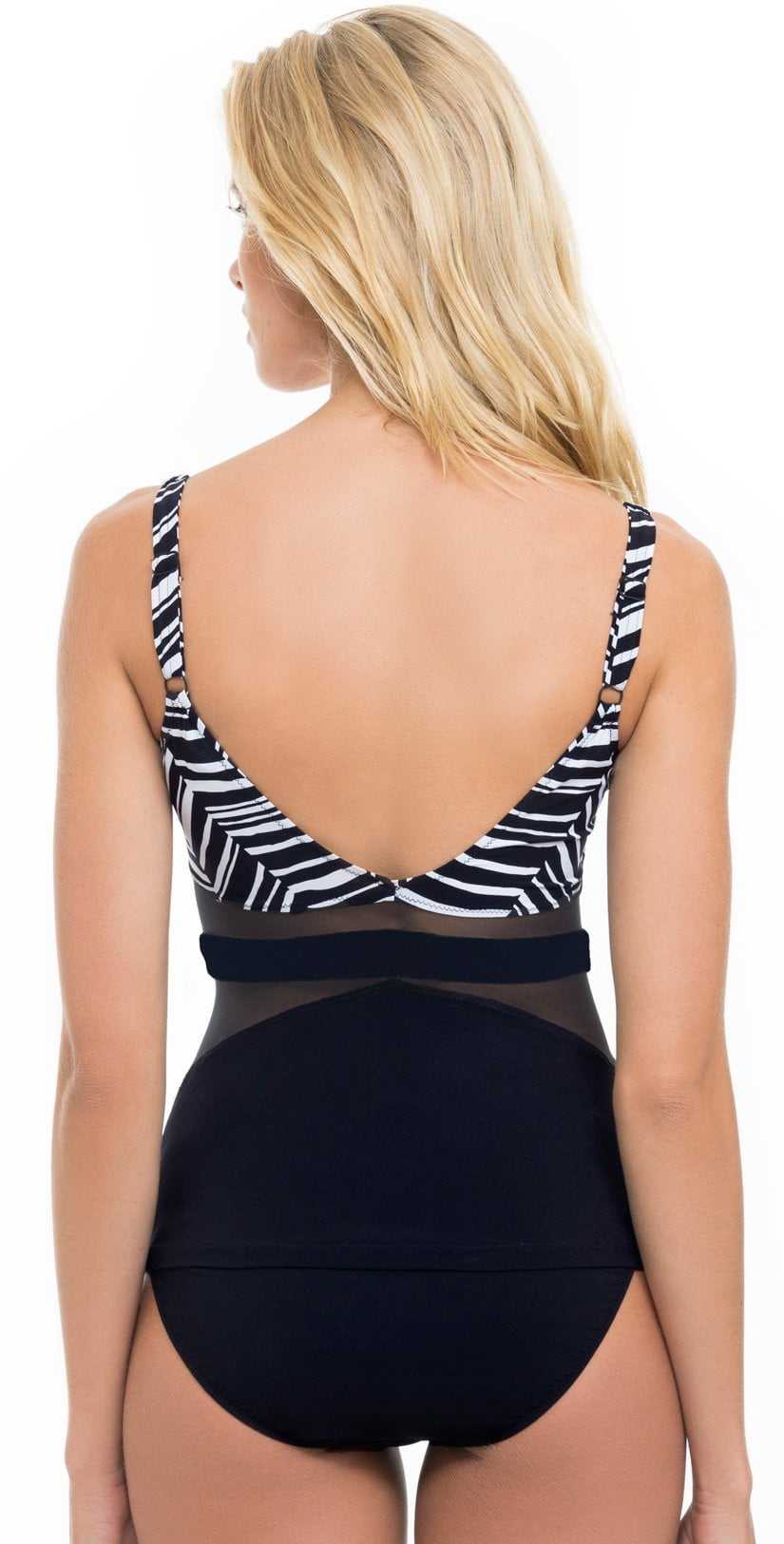 Profile by Gottex Marble Tankini Top E745-1B31-002 Back View