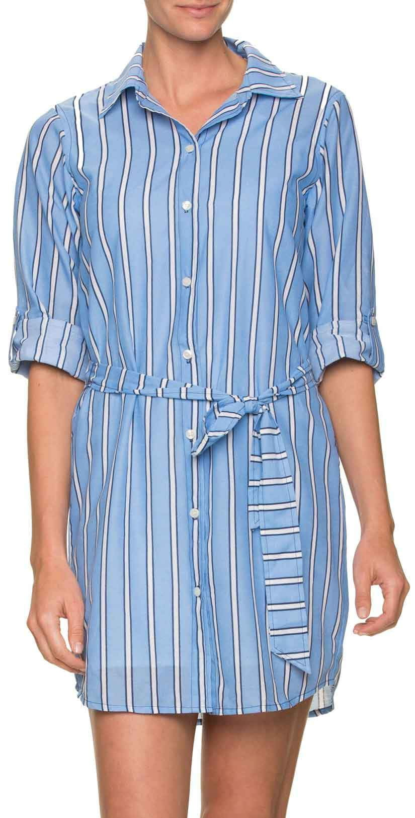 Draper James for Helen Jon Shirt Dress in Bold Stripe: