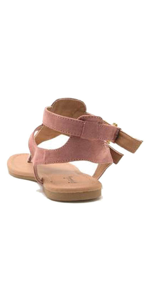 Qupid Shoes Archer Gladiator Thong Sandal In Mauve ARCHER-245 MAUVE: