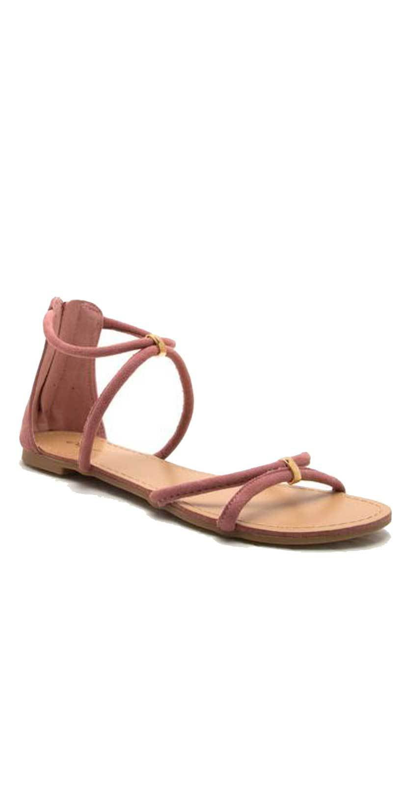 Qupid Shoes Archer Banded Sandal ARCHER-391 MAUVE: