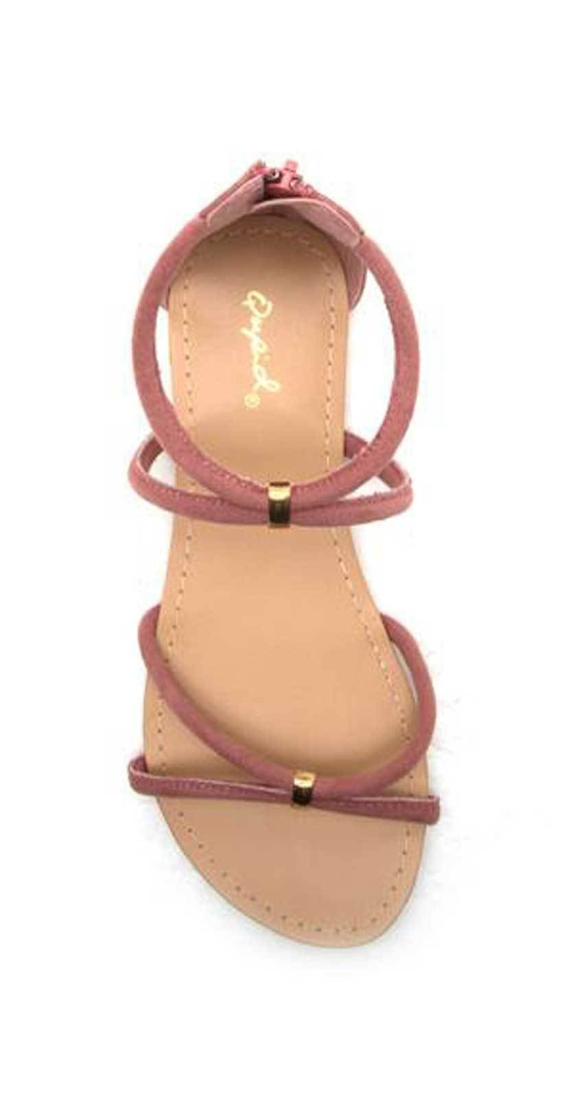 Qupid Shoes Archer Banded Sandal