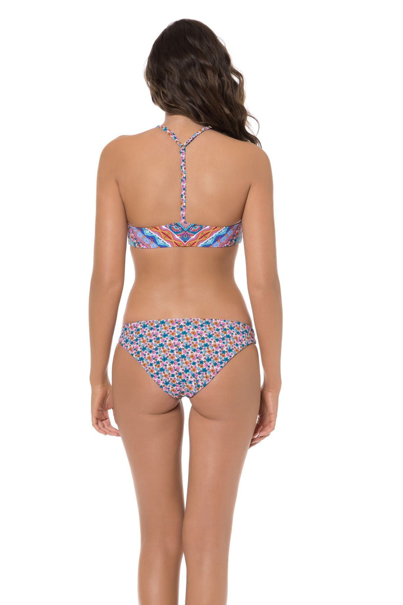 Red Carter High Neck Laurel Cannon Blossom Bikini Top RCLC117241-Multi: