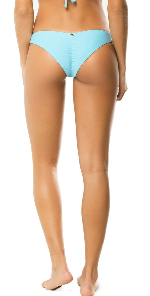 PilyQ Basic Teeny Cut Bottom in Cabana Blue: