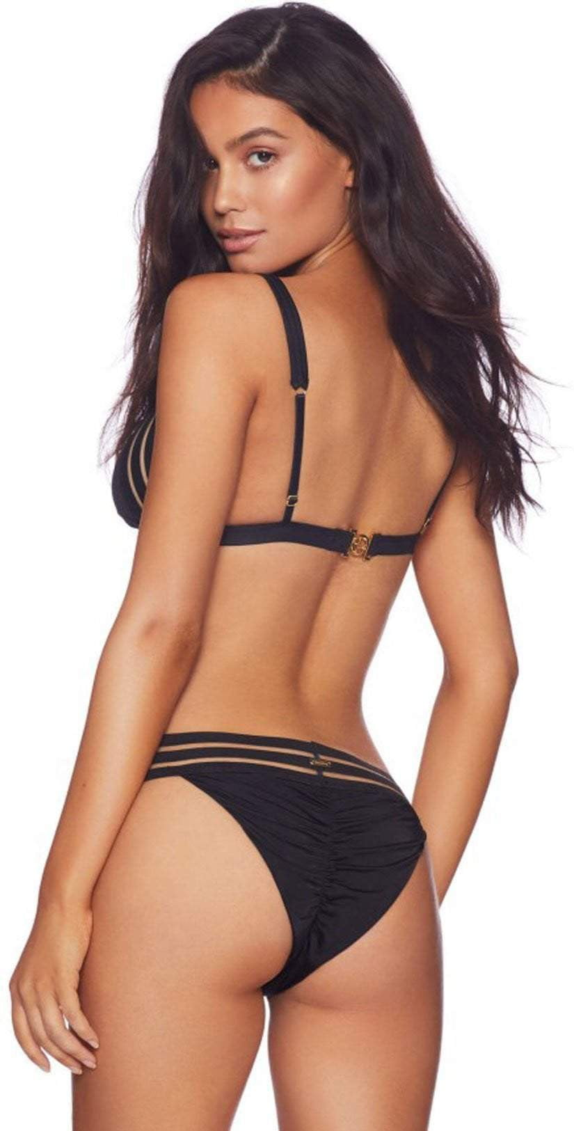 Beach Bunny Sheer Addiction Triangle Top In Black B16125T1-BLCK: