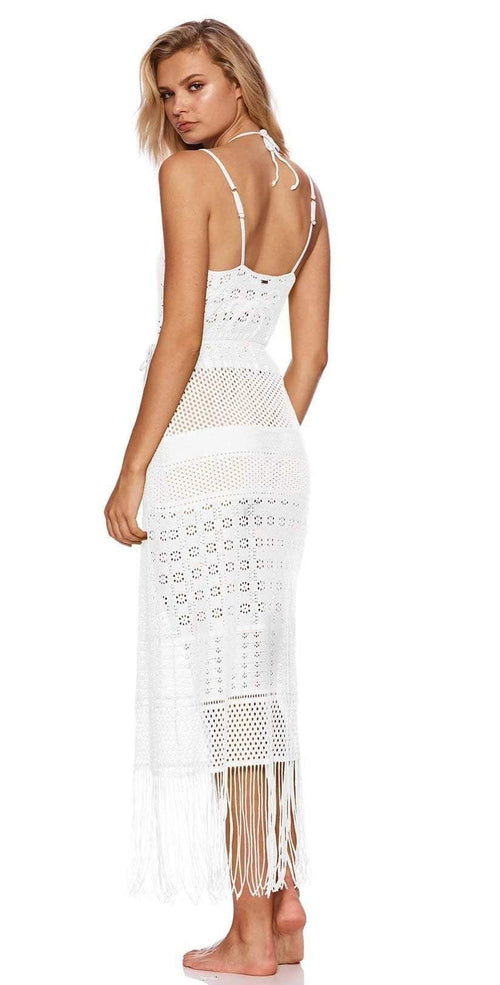 Beach Bunny Sienna Maxi Dress B19138C0 White back view