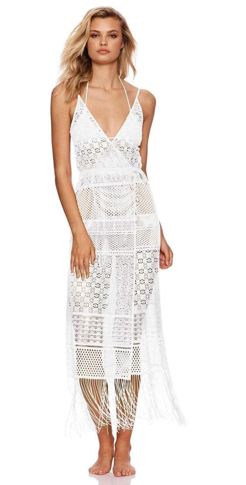 Beach Bunny Sienna Maxi Dress B19138C0 White front view