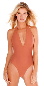 Peixoto St. Kitts One Piece Swimsuit in Bronze Beach 31706L-TB70: