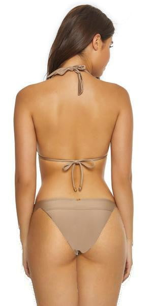 PilyQ Sandstone Lace Banded Teeny Bikini Bottom SND-222T Beige back view