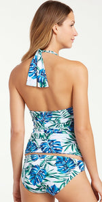 Tommy Bahama Fronds Floating  Reversible Halter Tankini Top TSW32621T-033: