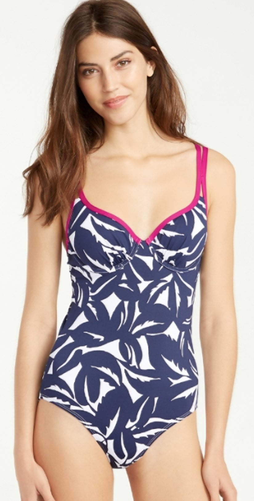 Tommy Bahama Graphic Jungle V Neck One Piece Swimsuit TSW31312P-15096MW: