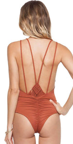 Tori Praver Mattie One Piece in Henna 1R18SOMTLM-HEN: