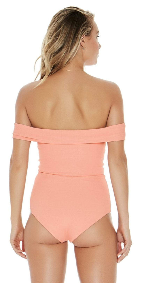 L Space Anja One Piece In Tropical Peach RHAJMC18-TRP back view