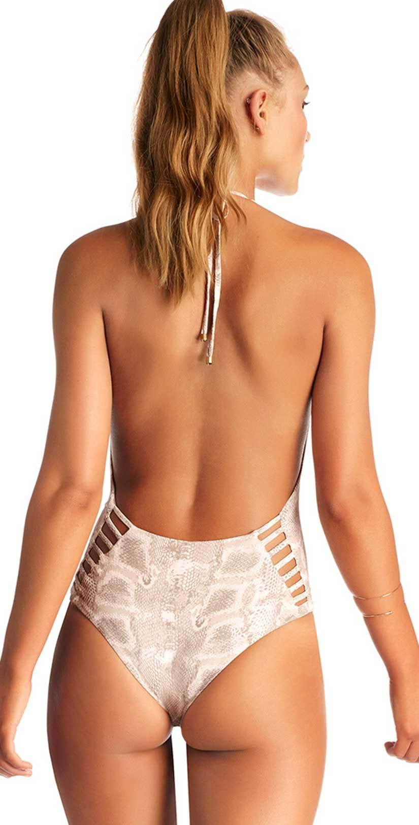 Vitamin A Bianca One Piece Bodysuit in Barefoot in Belize 73M BIB Back View