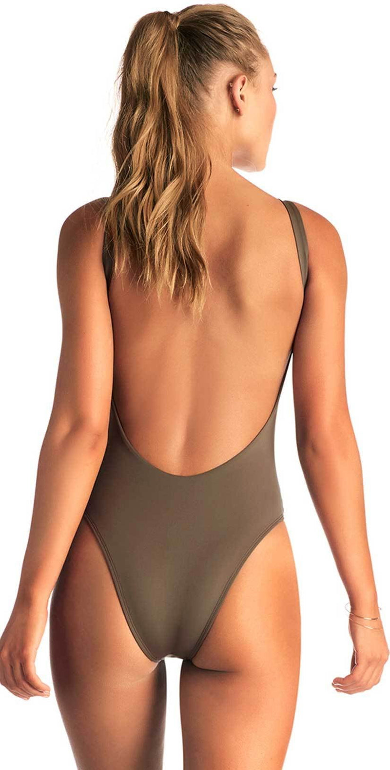 Vitamin A Leah One Piece Bodysuit in Wildwood 76M WIL: