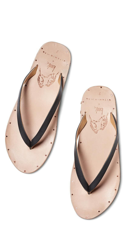 Vitamin A Beek Seabird Sandals in Black SEABKVA top studio