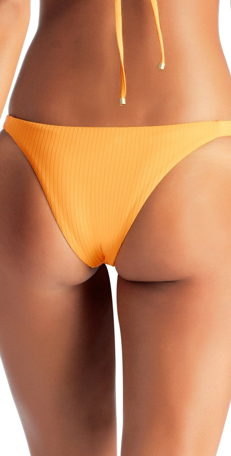 Vitamin A Carmen EcoRib Bikini Bottom in Sunflower 84B SRB: