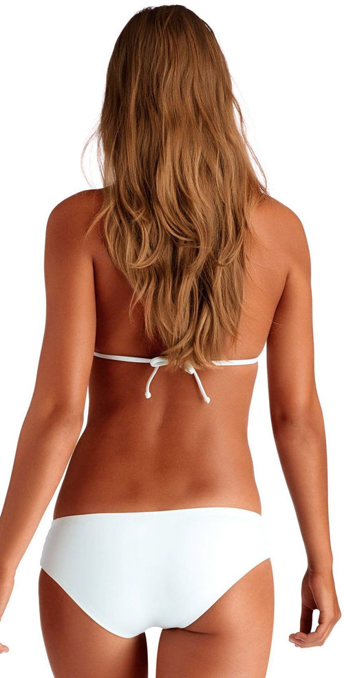 Vitamin A Jaydah EcoLux Bikini Bottom in White 76BF ECW