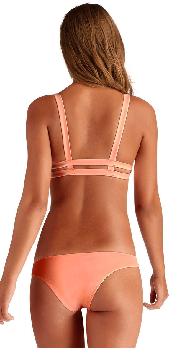 Vitamin A Neutra EcoLux Hipster Bottom in Coral 42B PEA