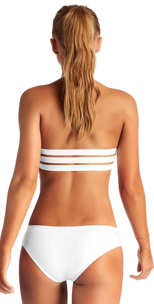 Vitamin A Emelia EcoLux Triple Strap Bottom in White 717B-ECW: