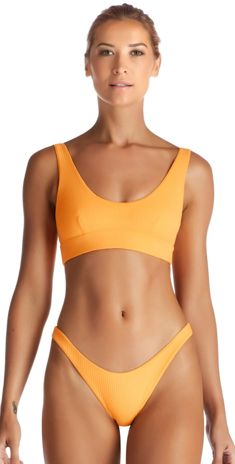 Vitamin A Sienna EcoRib Bikini Tank Top in Sunflower 809T SRB: