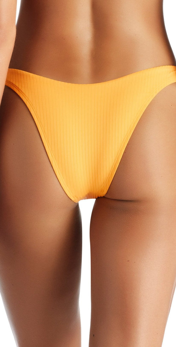 Vitamin A EcoRib California High Leg Bikini Bottom in Sunflower 812B SRB