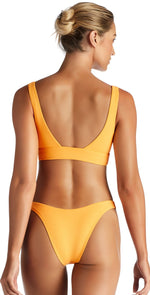 Vitamin A EcoRib California High Leg Bikini Bottom in Sunflower 812B SRB: