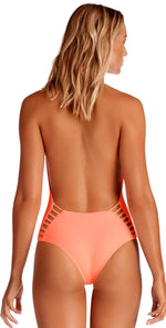 Vitamin A EcoLux Bianca One Piece Bodysuit in Peach 73M PEA: