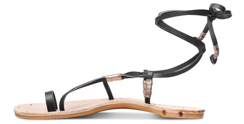 Vitamin A Beek Blue Bird Sandal in Black and Natural BLUEBKVA side studio