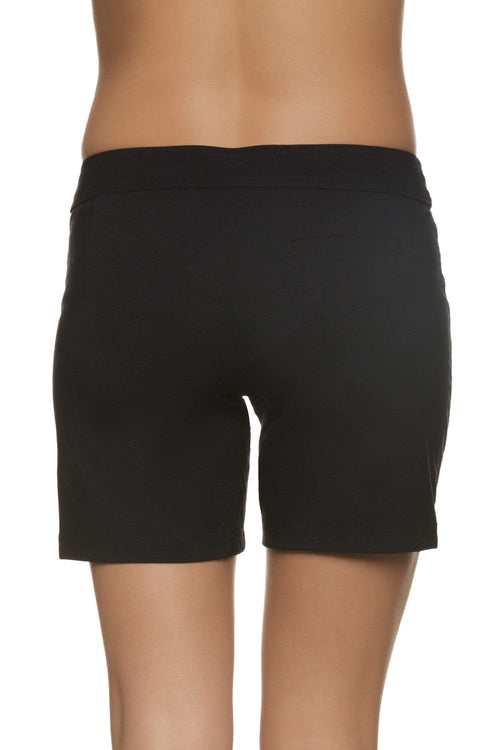 "Helen Jon Black 7"" Lace Up Board Short HJRE-0502BKS0"