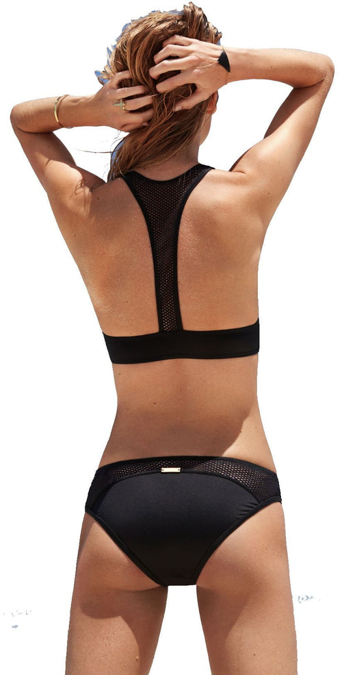 Watercult Active Mesh Front Zip Racerback Top back view