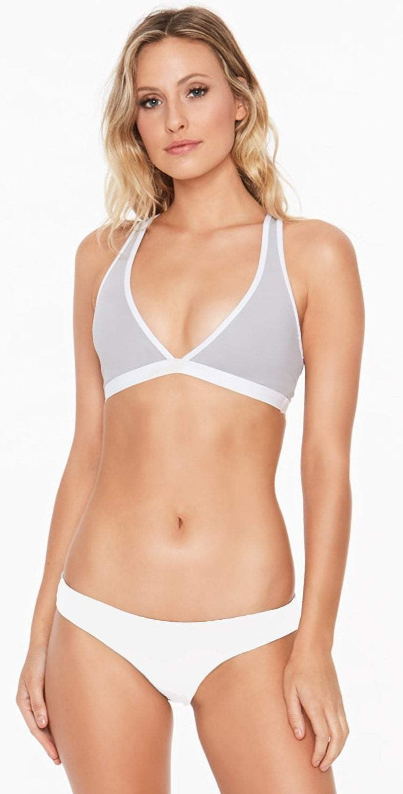 L Space Skylar Top in Fog Grey LASKT17-FGY: