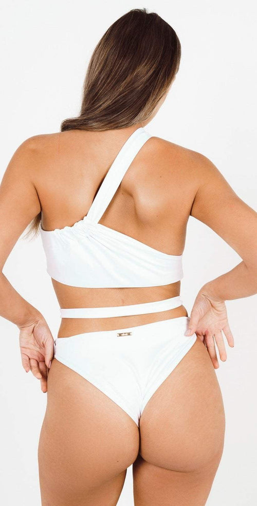 Akai Venus White One Piece Swimsuit AK001C back view