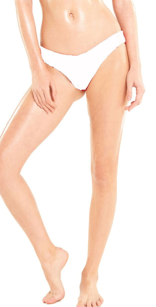 Wildfox Isabelle Bikini Bottom In White bottom view of bottom only