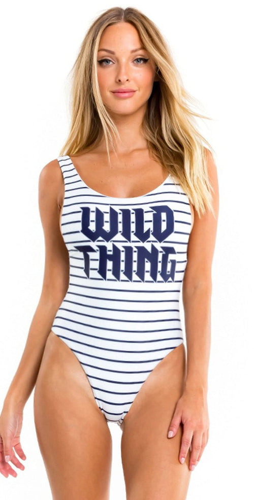 "Wildfox Candice ""Wild Thing"" One Piece Swimsuit front view"