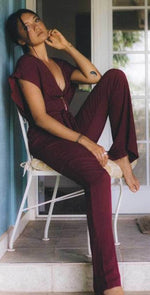 XIX Palms Florence Jumper in Wine: