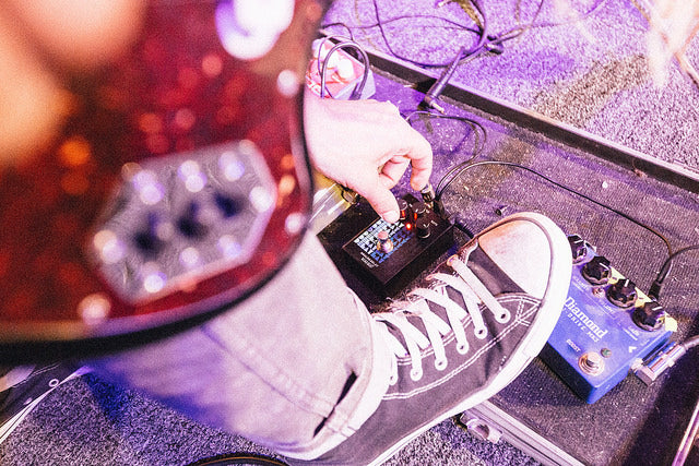 guitar with pedal