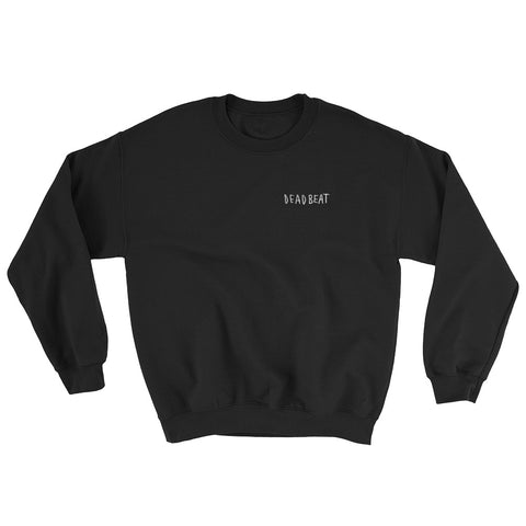 Deadbeat Black Crewneck Sweatshirt