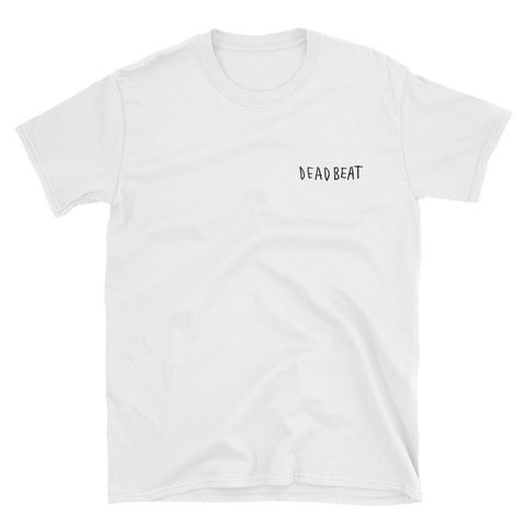Deadbeat White Short-Sleeve Unisex T-Shirt