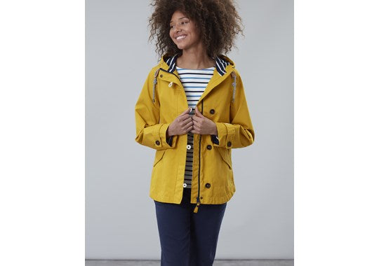 Joules Ladies Coast Waterproof Coat Antique Gold Right as Rain