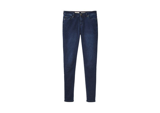 Joules Ladies Monroe Mid Rise Stretch Super Skinny Jeans Indigo