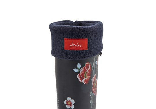 Joules Ladies Welton Fleece Welly Liners Socks Navy